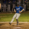 Leominster's Rocco Pandiscio scores a run during the Central Mass. D1 semfinal game against Wachusett on Wednesday, June 7, 2017. SENTINEL & ENTERPRISE / Ashley Green