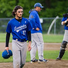 Leominster's Lowell Pare walks off the mound during the Central Mass. D1 semfinal game against Wachusett on Wednesday, June 7, 2017. SENTINEL & ENTERPRISE / Ashley Green