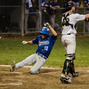 Leominster's Dylan Sousa scores a run during the Central Mass. D1 semfinal game against Wachusett on Wednesday, June 7, 2017. SENTINEL & ENTERPRISE / Ashley Green