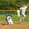 Lunb Troy Drasser slides into 2nd as the ball goes over Tom Rupp's glove