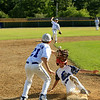 Lunenburg's Tyler Hollifield gets into 3rd base safely as Ashton Molzahn attempts to catch the ball
