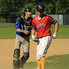LHS catcher Rocco Pandiscio tags NM Pat Aubuchon out at 3rd with a race between 3rd and home SENTINEL&ENTERPRISE/Scott LaPrade