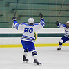 Leominsters Maliq Munoz-Preko celebrates a goal<br /> SENTINEL&ENTERPRISE/Scott LaPrade