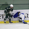 Nashoba's Andrew Kerble and Leominsters Zach Fowler collide SENTINEL&ENTERPRISE/Scott LaPrade
