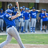 Leominster batter James Powers swings at the pitch during Monday's tournament game at Doyle Field in Leominster against Shrewsbury.  SENTINEL & ENTERPRISE JEFF PORTER