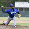 Leominster pitcher Lowell Pare sends the ball over the plate in Wednesday's 6-3 win over St. John's in Worcester.  SENTINEL & ENTERPRISE JEFF PORTER