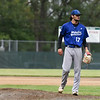 Leominster pitcher Lowell Pare looks over at the batter with 2 outs in the bottom of the 7th in Wednesday's 6-3 win over St. John's in Worcester.  SENTINEL & ENTERPRISE JEFF PORTER