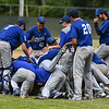Leominster piles on the mound in Wednesday's 6-3 win over St. John's in Worcester.  SENTINEL & ENTERPRISE JEFF PORTER