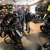 American Harley-Davidson held an open house on Saturday, September 29, 2018. Rock and Christine Lapointe from Palmer look over some the bikes in the shop during the open house. SENTINEL & ENTERPRISE/JOHN LOVE