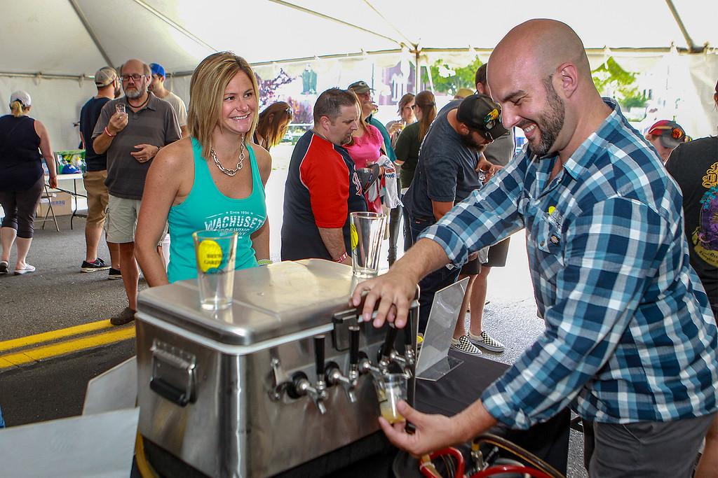 . Lindsey Hazelrigg from Leominster at the beer fest SENTINEL&ENTERPRISE/Scott LaPrade