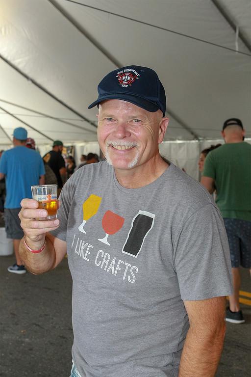 . Mark Matley from Leominster enjoying brew SENTINEL&ENTERPRISE/Scott LaPrade