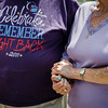 Albert and Joyce Cossi hold hands during the dedication of the repurposed Central Park in Leominster on Wednesday, June 21, 2017. Economic Development Coordinator Lisa Marrone hopes to bring awareness to Alzheimer's disease and patient caregivers through the park. SENTINEL & ENTERPRISE / Ashley Green