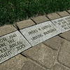 Memory bricks line the pathway in Central Park in Leominster on Wednesday, June 21, 2017 for the dedication of the repurposed park. Economic Development Coordinator Lisa Marrone hopes to bring awareness to Alzheimer's disease and patient caregivers through the park. SENTINEL & ENTERPRISE / Ashley Green