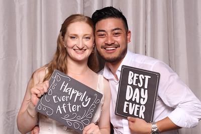 Leonard and Kaylin's Wedding Reception Photo Booth