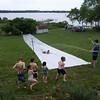 The best water slide ever!  Breton Bay, Leonardtown, MD, May 24, 2009.