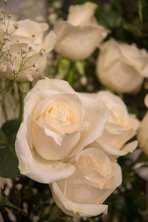 White roses, vertical format