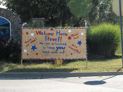 A soldier's welcome.