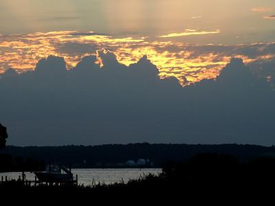 Cloudy dawn.