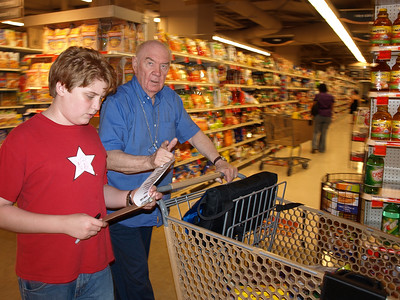 Weekly shopping with Grandpa.