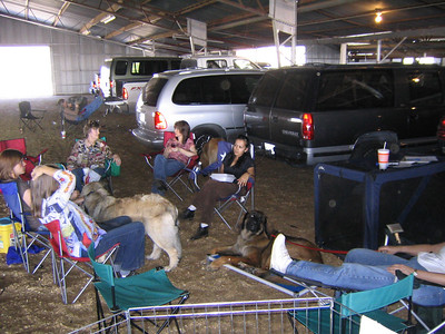 hangin' out waiting for the show