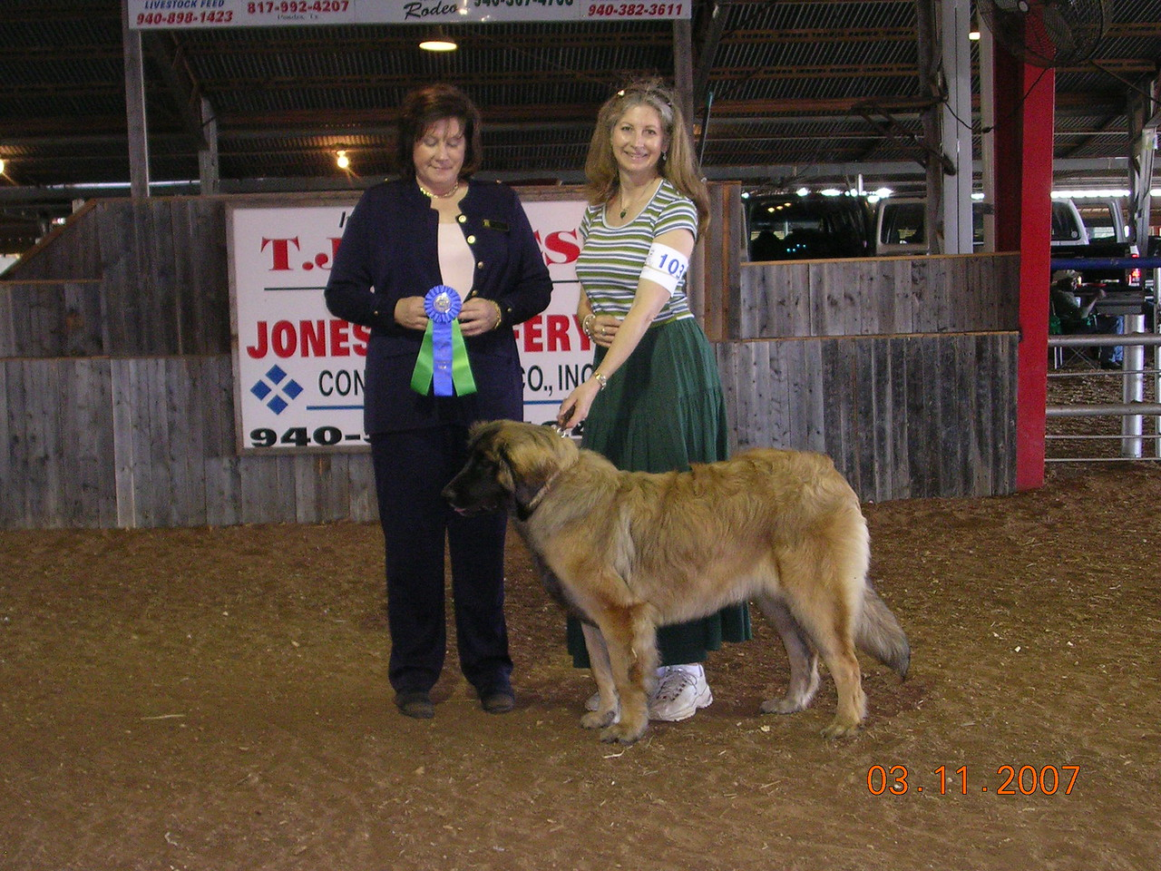 Sienna get her first major (4 pt major) at almost 7 mths old.  She won best female on show 1 of Sunday, 3-11-07, and also earns her UKC Championship.  WOW!!!!