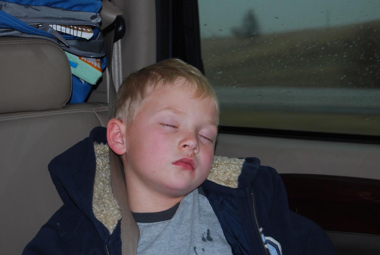 Kolton asleep