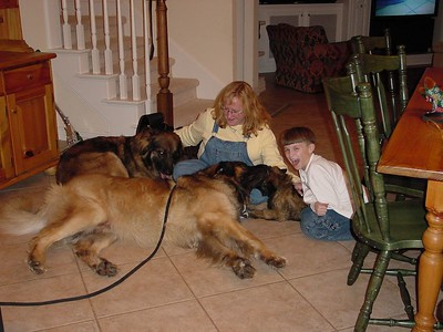 Wendy & Connor with all three Leos