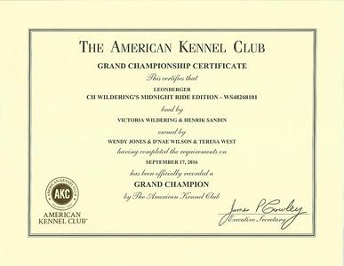 Certificates