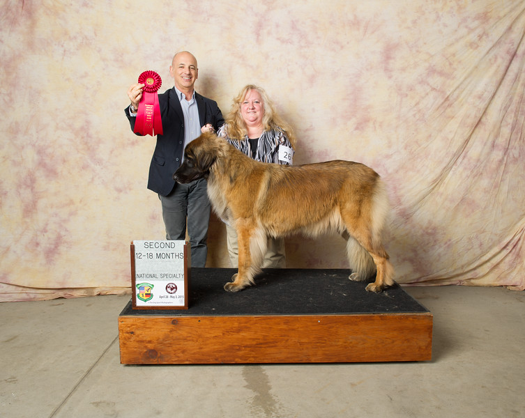 National Specialty - 2nd in her class wtg Z