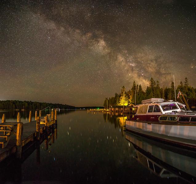 Viking Boat Harbor Milky Way