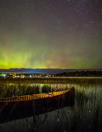 Aurora over Red Canoe