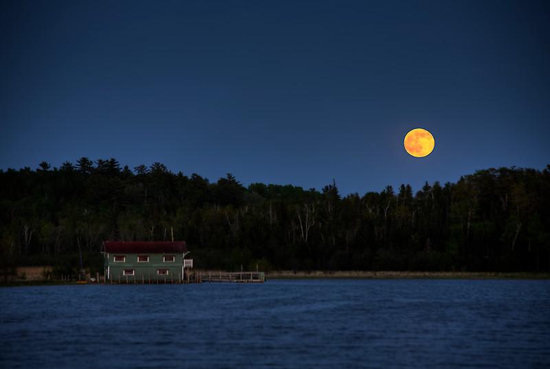 Full Moon Rising over Wayside