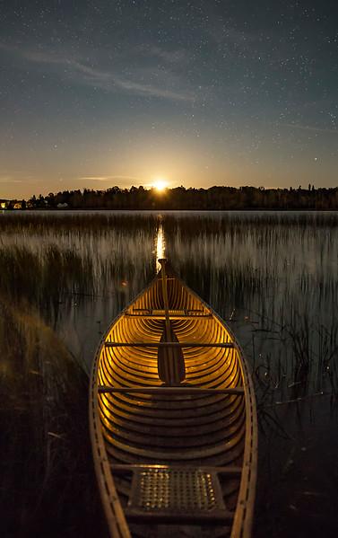 Moonrise over Canoe