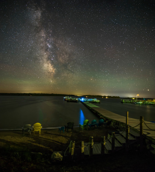 The Milky Way over Hessel Bay