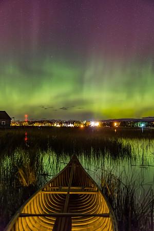 Aurora over Wooden Canoe