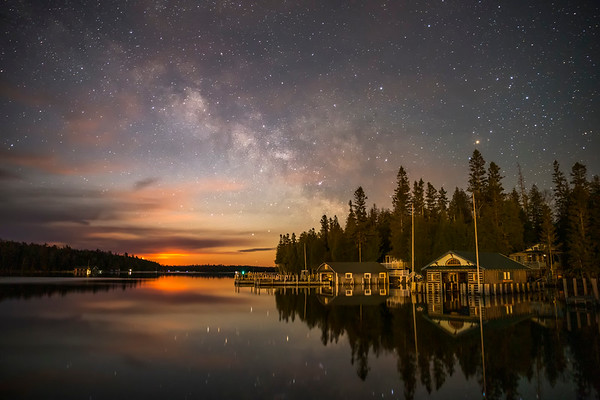 Milky Way over Islington Point at Moonrise