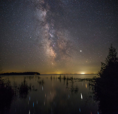 Milky Way at the Mouth of Trout Creek