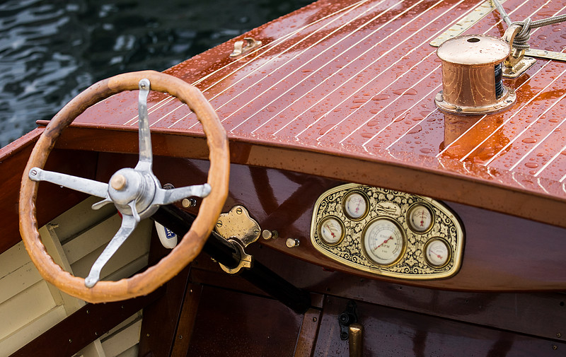 Antique Boat Helm