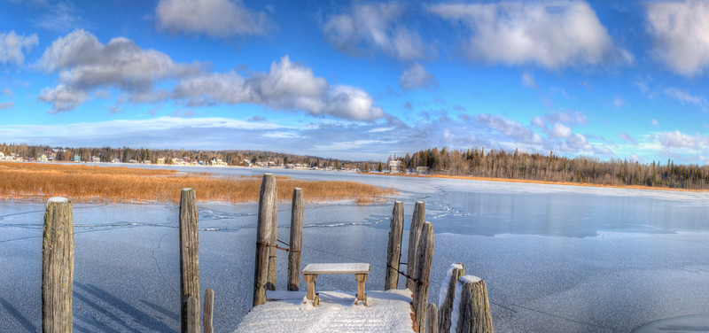 Winter comes to Cedarville Bay