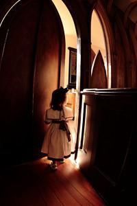 Girl in portal