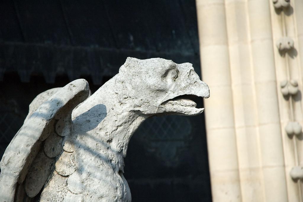 A gargoyle of Notre Dame de Paris