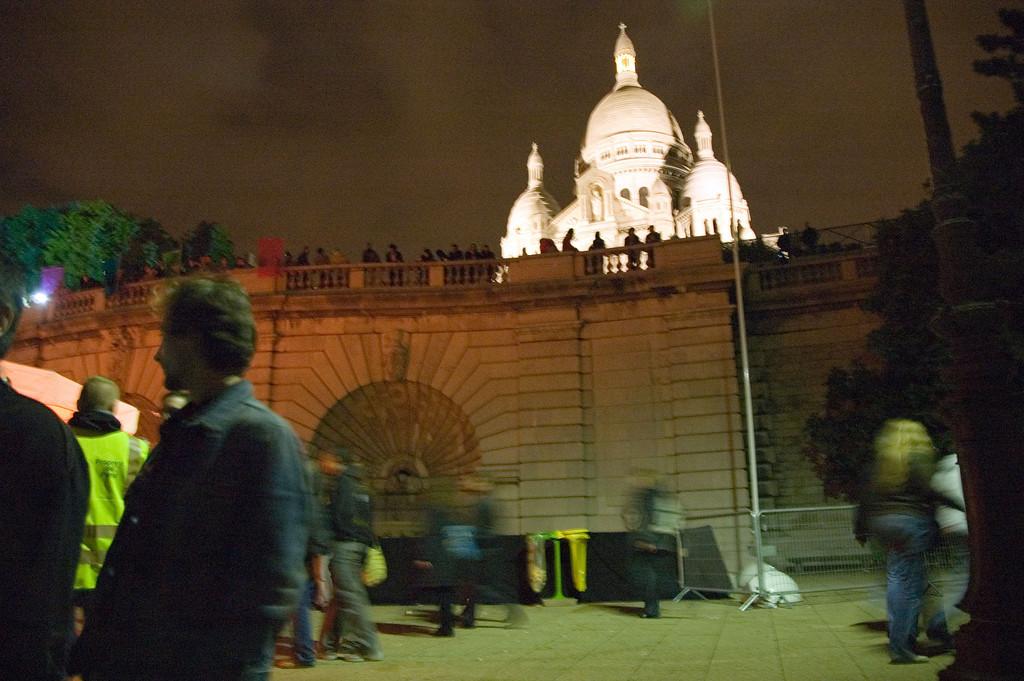 Basilique du sacrŽ coeur Montmartre<br /> <br /> Nuit blanche 2005