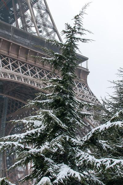 La tour Eiffel aussi prend le frais