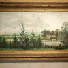 Une peinture roulée, qu'on fait défiler avec deux manettes en bois ... Vision d'un paysage à 360 ° ... peinture à 4 mains avec Pierre et Fabien Ansault