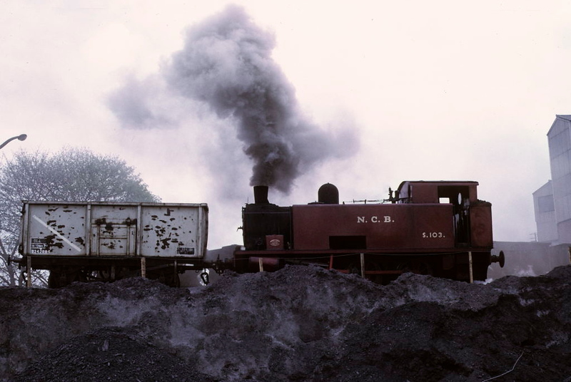 NCB S103, Newmarket Colliery, 9 May 1974 2.  The wagons ran down by gravity as required.  Photo by Les Tindall.
