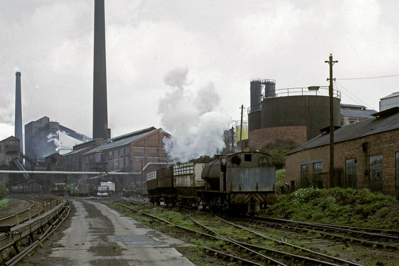 SWCP No 2, Smithywood coking plant, Chapeltown, 9 May 1974.  Hunslet 0-6-0ST 3192 / 1944, rebuilt 3888 / 1964.  Being overhauled at Barrow Hill In 2019.  Photo by Les Tindall.