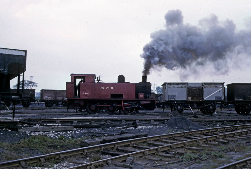 NCB S103, Newmarket Colliery, 9 May 1974 5..  Propellng more wagons up the head shunt.  Photo by Les Tindall.