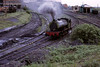 Rodney, Bickershaw colliery, 15 June 1973 2.  The Hunslet 0-6-0ST sets off to the exchange sidings.  Photo by Les Tindall.