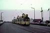 Brush railcoach 637 etc, Fleetwood, October 1979.  Two other Brush railcoaches are behind.  Photo by Les Tindall.