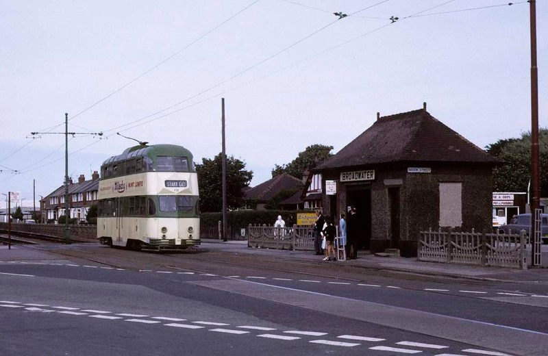 Balloon car 721, Broadwater, Sun 12 August 1973.  Two miles from Fleetwood.  Photo by Les Tindall.